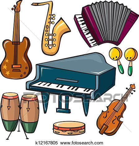 clipart strumenti musicali clipart strumenti musicali icone set k12167805 cerca