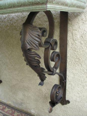 full counter iron leaf bracket hand forged iron