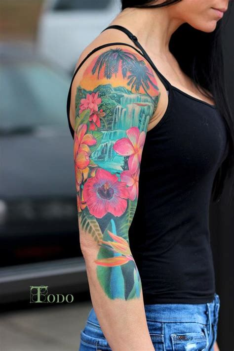 hawaiian scene by todo tattoonow