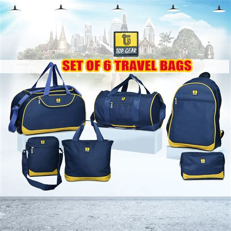 Travel Bag Set 6 buy top gear set of 6 travel bags at best price in