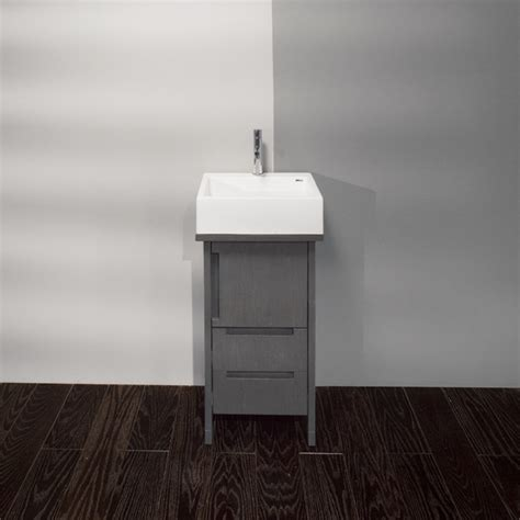 Small Vanity With Sink by Lacava Luce Small Vessel Bowl Vanity Modern Bathroom