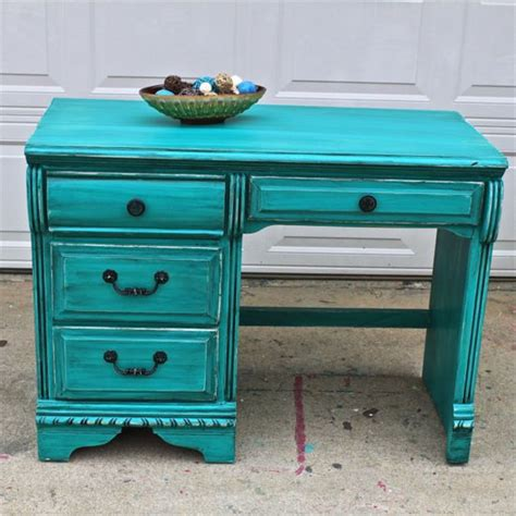 Turquoise Bedroom Desk Patina Green Vintage Desk Turquoise Vanity Bedroom