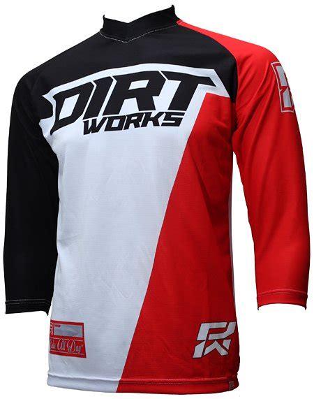 jersey sepeda dirtworks starck merah jual baju jersey