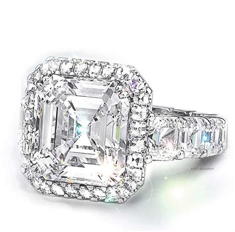 asscher cut engagement rings custom design