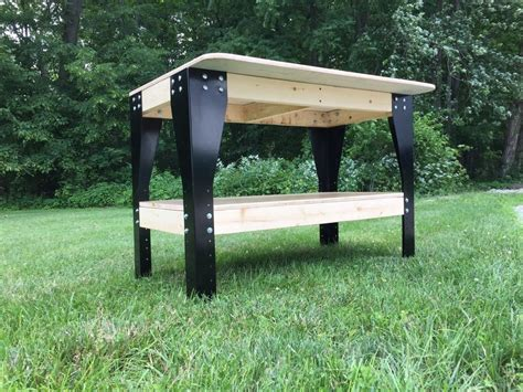 woodworking bench kit diy custom workbench wooden shelf garage shop workshop