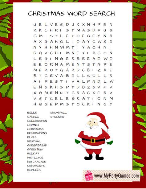 free printable word games for christmas free printable christmas word search game