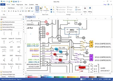 wiring diagram maker free circuit design software