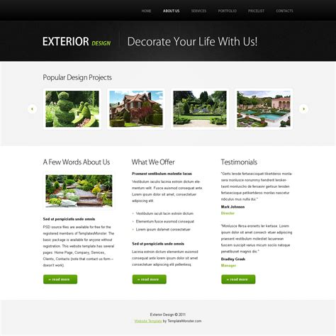 free templates for website with jquery slider free website template w jquery slideshow design