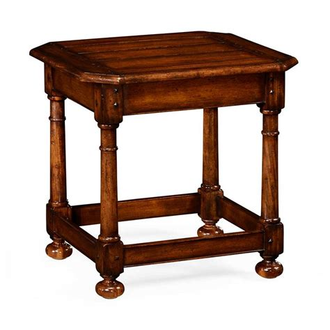Farmhouse Side Table Jonathan Charles 492013 Country Farmhouse Octagonal Walnut Side Table Discount Furniture At