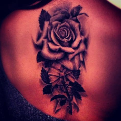 shaded rose tattoos black ideas