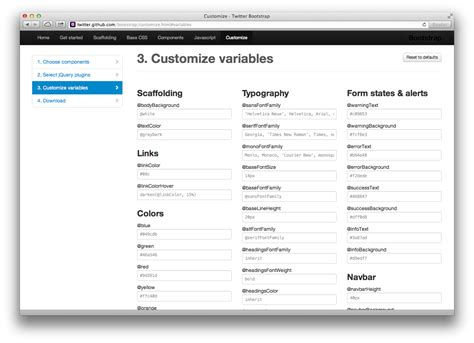 bootstrap themes variables how to customize twitter s bootstrap smashing magazine