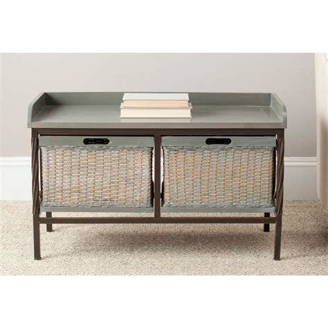 grey storage bench safavieh nah french grey storage bench amh6528b the home