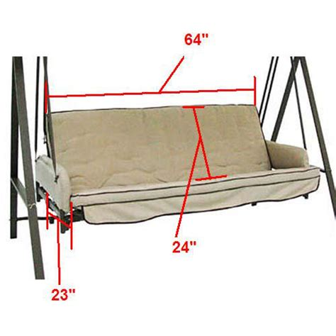Patio Swing Cushions Replacement by Replacement Swing Cushions Garden Winds