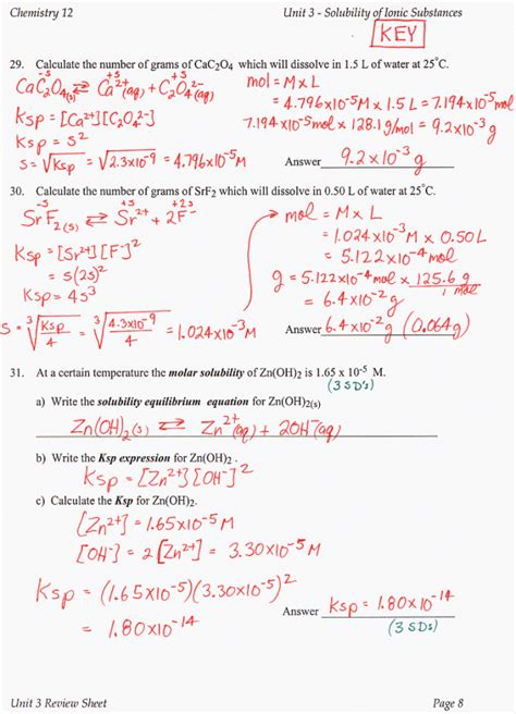 Chemistry Unit 5 Worksheet 2 Answer Key by Chemistry Unit 5 Worksheet 2 Answer Key Worksheets For