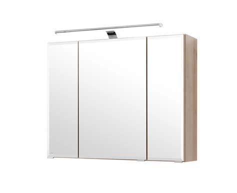 badezimmer spiegelschrank buche bad spiegelschrank 3 t 252 rig mit led aufbauleuchte 80