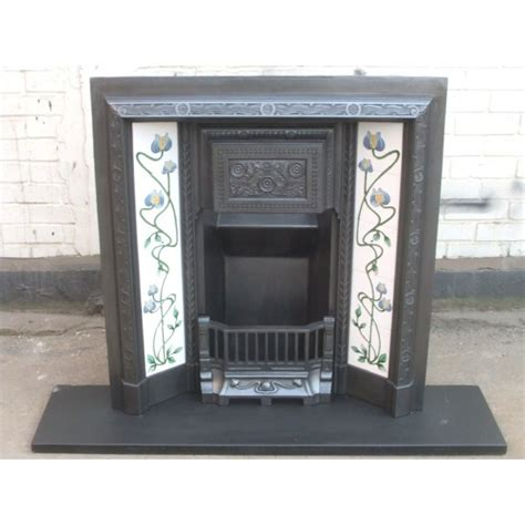Gas Fireplace Insert For Sale by Edwardian Cast Iron Fireplace Surround With