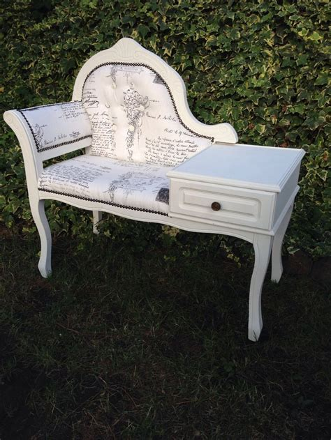upcycled telephone table upcycled shabby chic telephone seat one more coat of as
