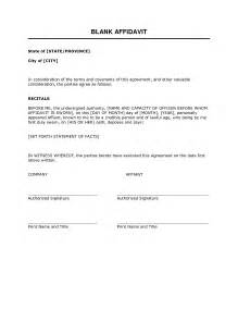 blank affidavit template best photos of blank sworn affidavit form free printable
