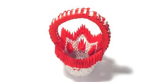 Origami Flower Basket - 3d origami flower basket by girnelis on deviantart