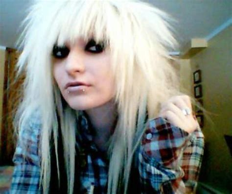 emo hairstyles black and white hair styles and makeup white emo hair