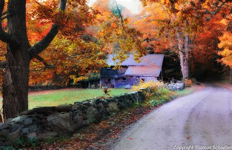 painterly rural connecticut fall scenic ts quality