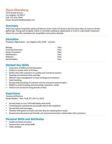 resume for highschool students first job 12 free high student resume examples for teens