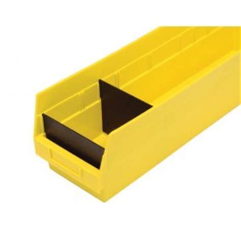 plastic shelf bin compartment divider small parts storage
