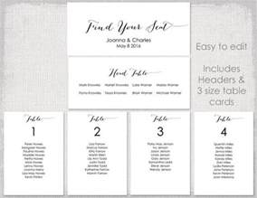 wedding seating chart template black quot bombshell quot diy