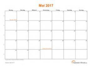 Kalender 2018 Feiertage Im Mai Mai 2017 Kalender Mit Feiertagen