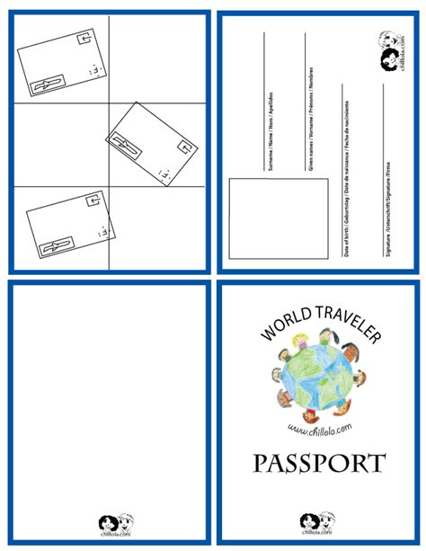 passport template for google docs passport template passport for kids passport www