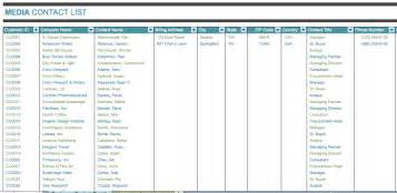 media contact list template media contact list template microsoft office templates