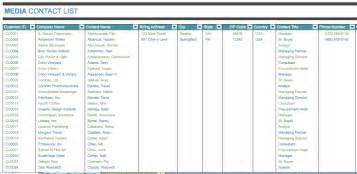 contact list templates media contact list template template pinterest contact list editable template