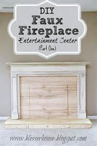 diy faux fireplace entertainment center part one bless