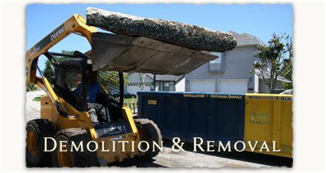 Demilatory Removal enhance pavers retaining walls pits jacksonville ponte vedra fleming island florida