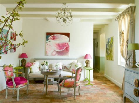 pink and green living room home decorating spring decorations for your home pretty