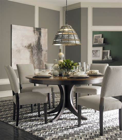 dining room furniture contemporary custom dining 60 quot round pedestal table by bassett