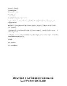 Two Weeks Notice Format by 3 Highly Professional Two Weeks Notice Letter Templates