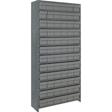 metal shelving unit with drawers quantum storage closed metal shelving unit with 72 super