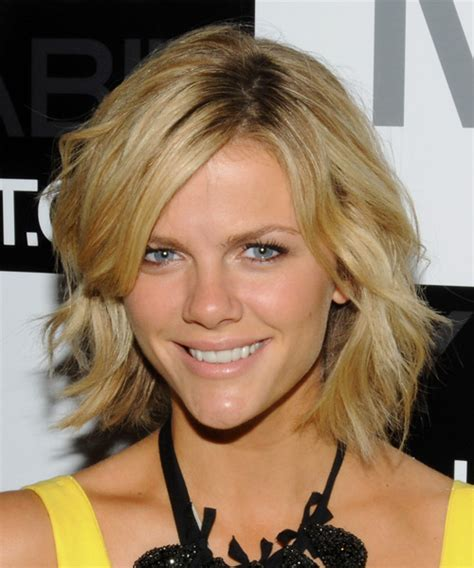 casual updos over 40 brooklyn decker short wavy casual hairstyle medium blonde
