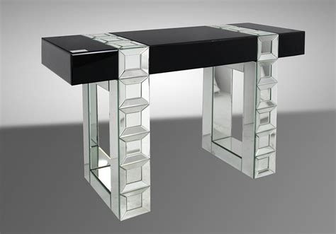 Mirrored Console Table Next Perry Transitional Mirrored Console Table