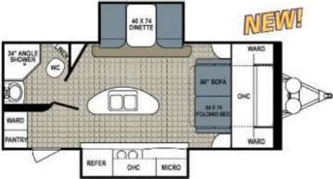 Travel Trailers With Bunk Beds Floor Plans 2014 Dutchmen 220 Rbsl Has Murphy Bed Cers Pinterest Murphy Beds New Travel Trailers