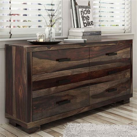 Handcrafted Modern - virginia modern handcrafted 6 drawer dresser