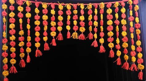 Handmade Toran - diy handmade toran door hanging toran from woolen