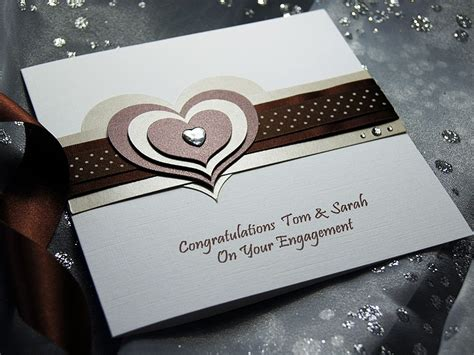 Handmade Engagement Card - mocha handmade engagement card