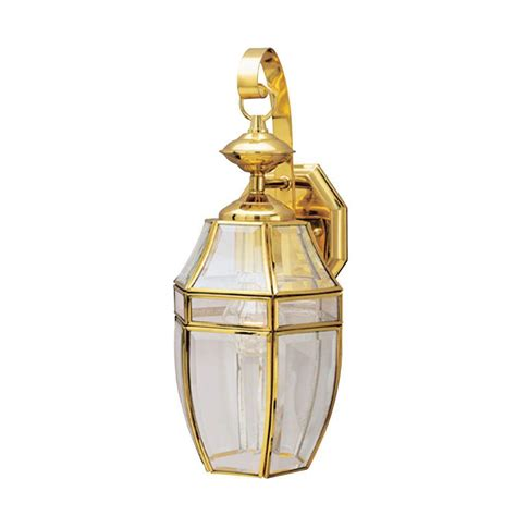 polished brass outdoor lighting westinghouse 1 light polished brass on solid brass steel