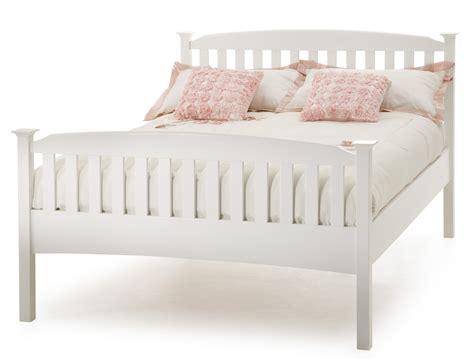 Where To Buy Bed Frames In Toronto Toronto Hevea Wood Opal White Finish Bed Frame Sensation Sleep Beds And Mattresses
