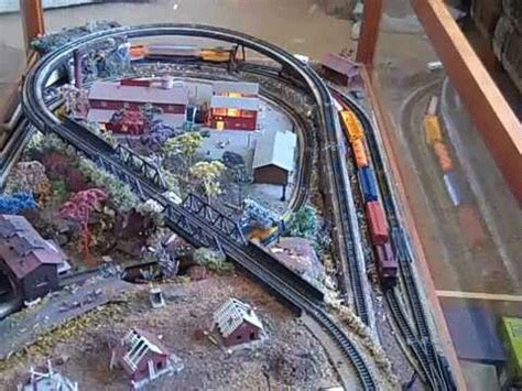 scale coffee table model train layout