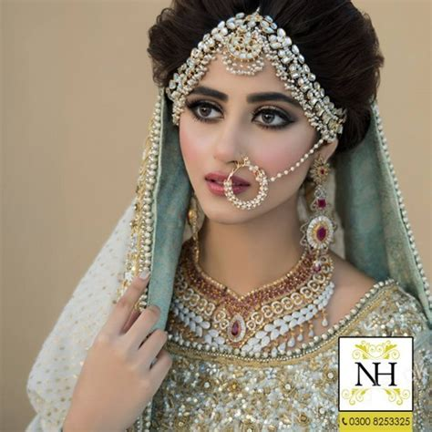 New Bridal Pics by Sajal Ali Bridal Photoshoot For Hussain Salon