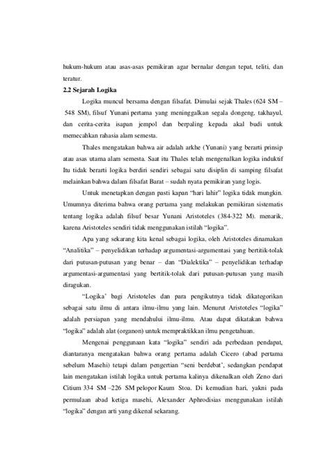 Sari Sejarah Filsafat Barat Harun Hadiwijono makalah logika