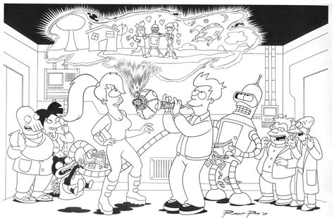 futurama knivvldr coloring pages coloring pages